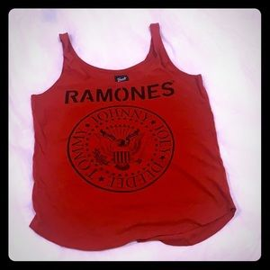 Ramones band tee tank top